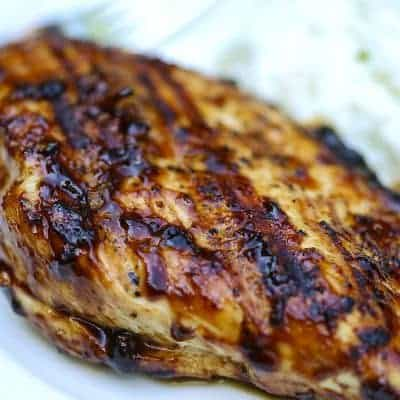 Grilled Balsamic Glazed Chicken With Sour Cream & Chives Mashed Cauliflower