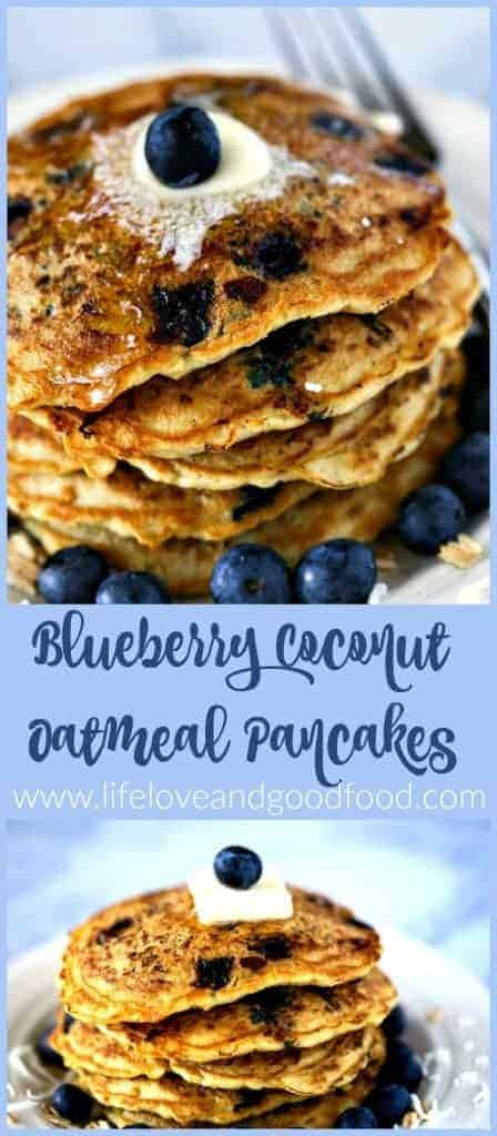 Blueberry Coconut Oatmeal Pancakes | Life, Love, and Good Food