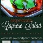 A close up of Caprese Salad