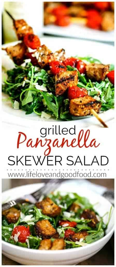 Grilled Panzanella Skewer Salad | Life, Love, and Good Food
