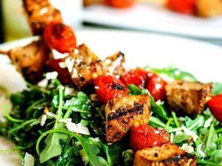 Grilled Panzanella Skewer Salad