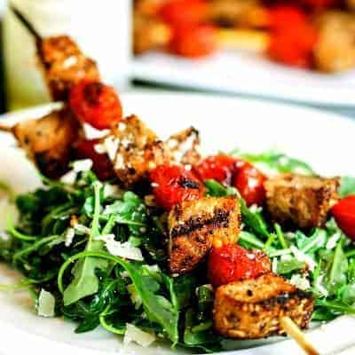 Grilled Panzanella Skewer Salad