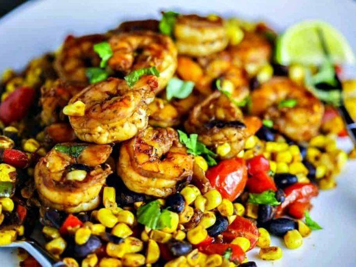 Southwest Shrimp and Succotash
