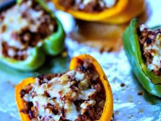 BBQ Turkey Stuffed Peppers