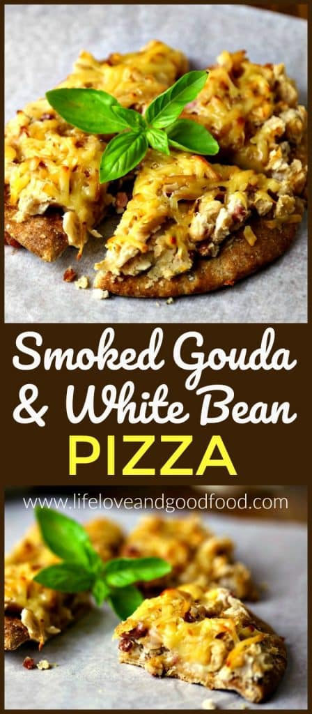 Smoked Gouda White Bean Pizza | Life, Love, and Good Food