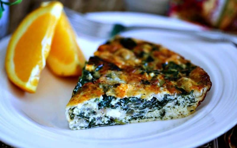 Crustless Spinach Quiche   Life, Love, and Good Food