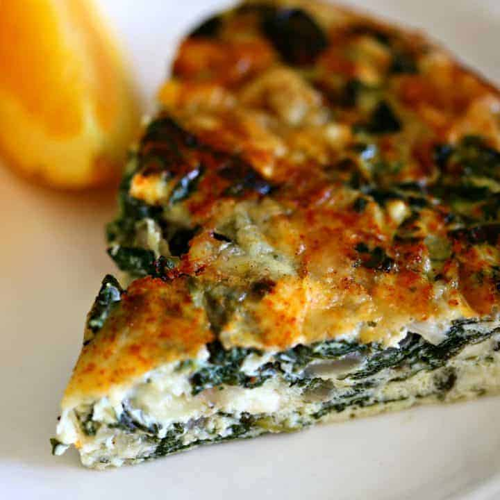 Crustless Spinach Quiche Life Love And Good Food