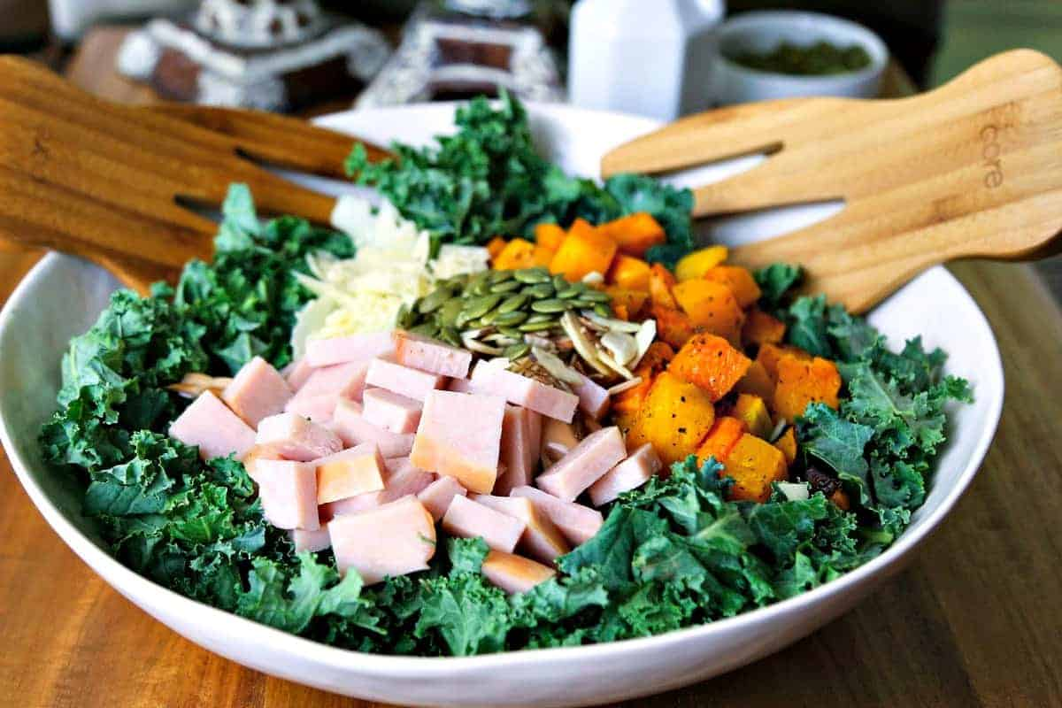 Butternut Squash Kale Salad with Turkey | Life, Love, and Good Food