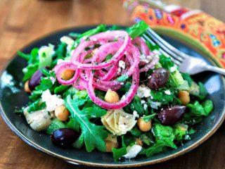 Chopped Mediterranean Salad with Arugula