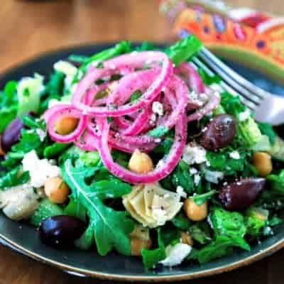Chopped Mediterranean Salad with Arugula