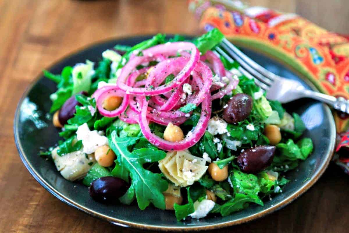 Chopped Mediterranean Salad with Arugula | Life, Love, and Good Food