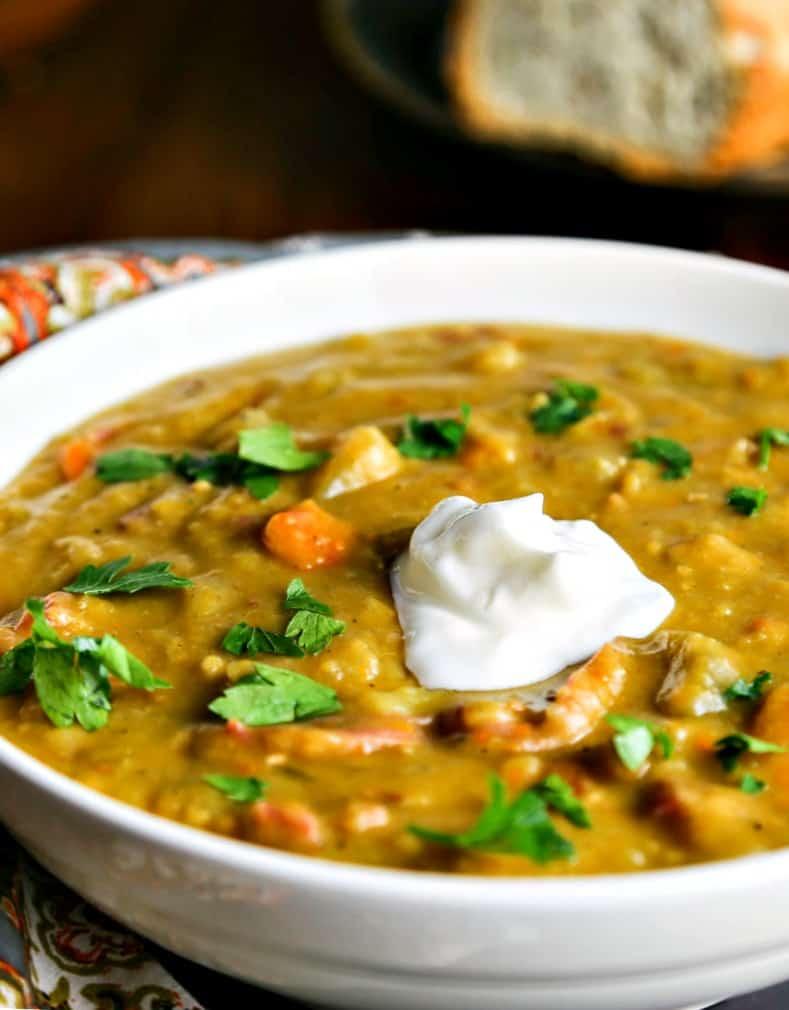 Smoky Ham Split Pea Soup - Life, Love, and Good Food