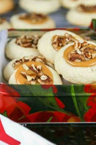 Caramel Pecan Thumbprint Cookies | Life, Love, and Good Food