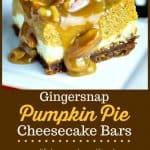 Gingersnap Pumpkin Pie Cheesecake Bars   Life, Love, and Good Food