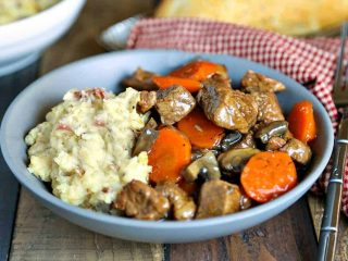 Marsala Beef Stew with Redskin Mashed Potatoes