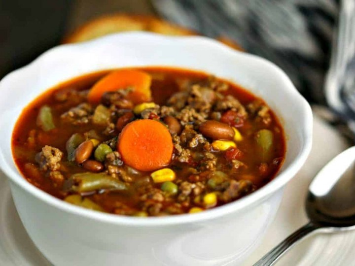 30-Minute Beefy Vegetable Soup