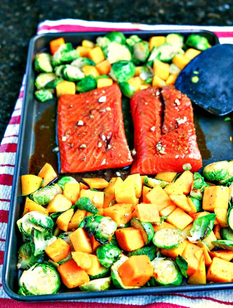 Honey Soy Salmon Sheet Pan Dinner