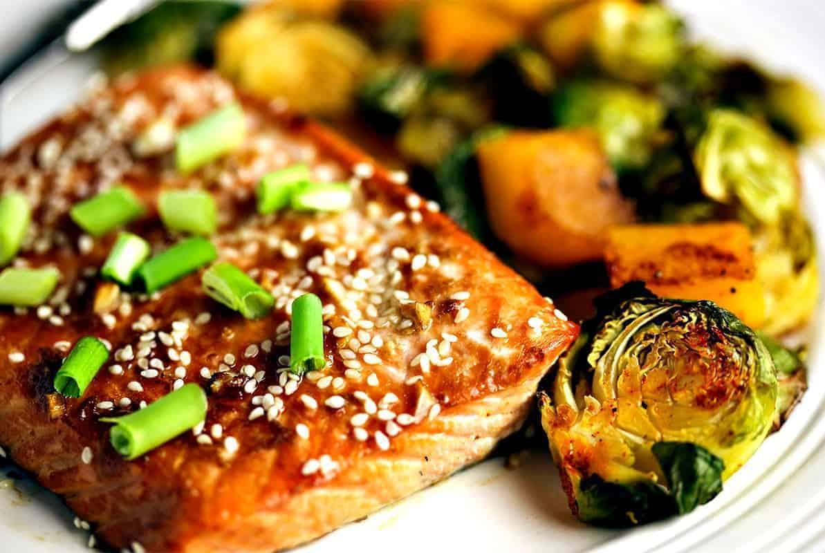 Honey Soy Salmon Sheet Pan Dinner