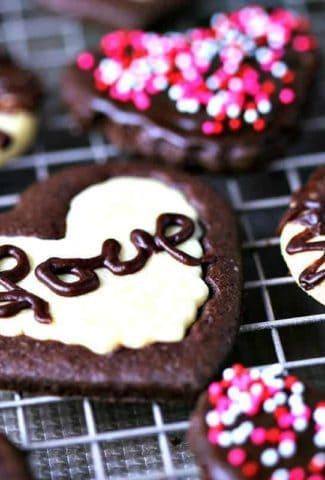 Sweetheart Cookies on wire rack