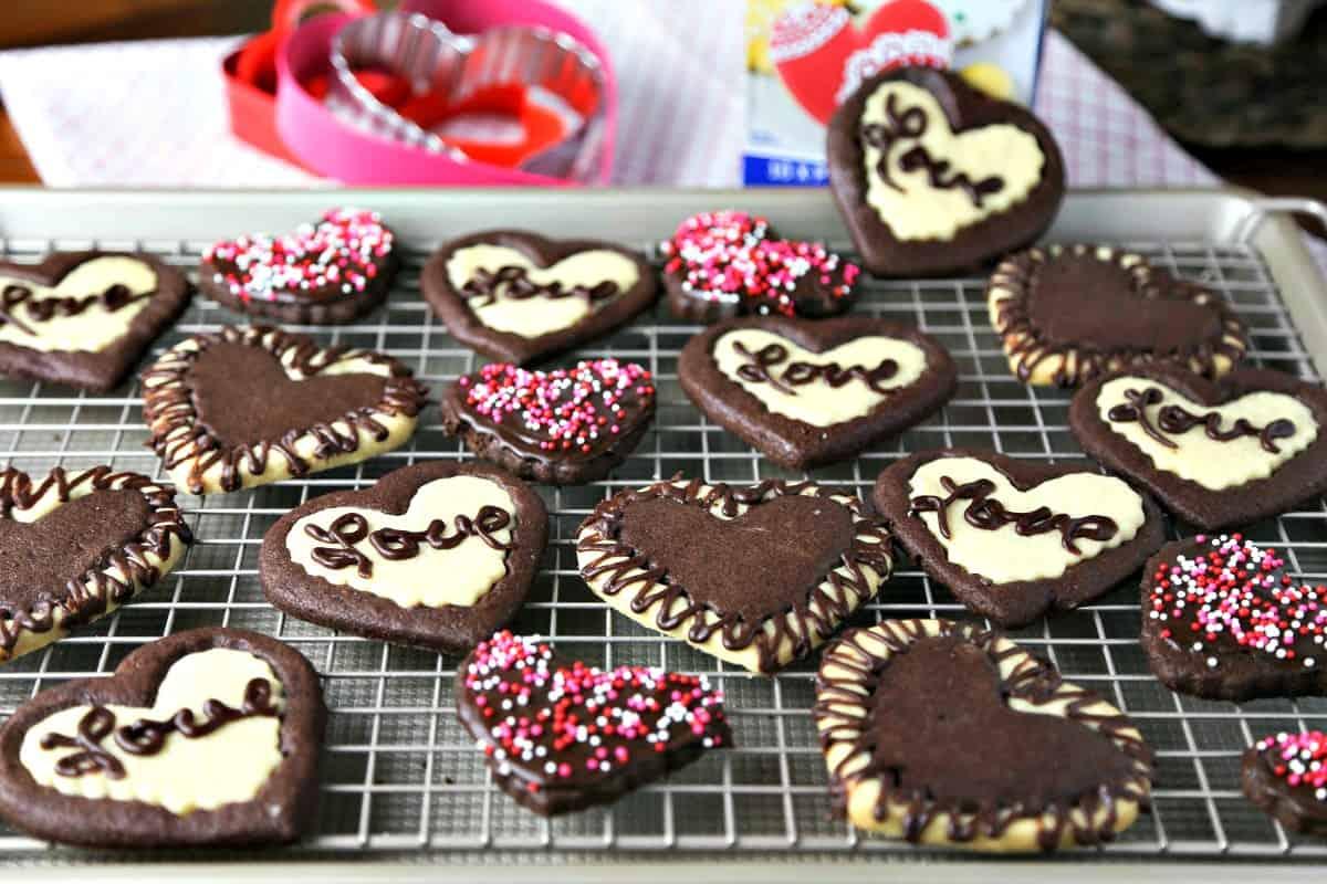Sweetheart Cookies decorated cookies