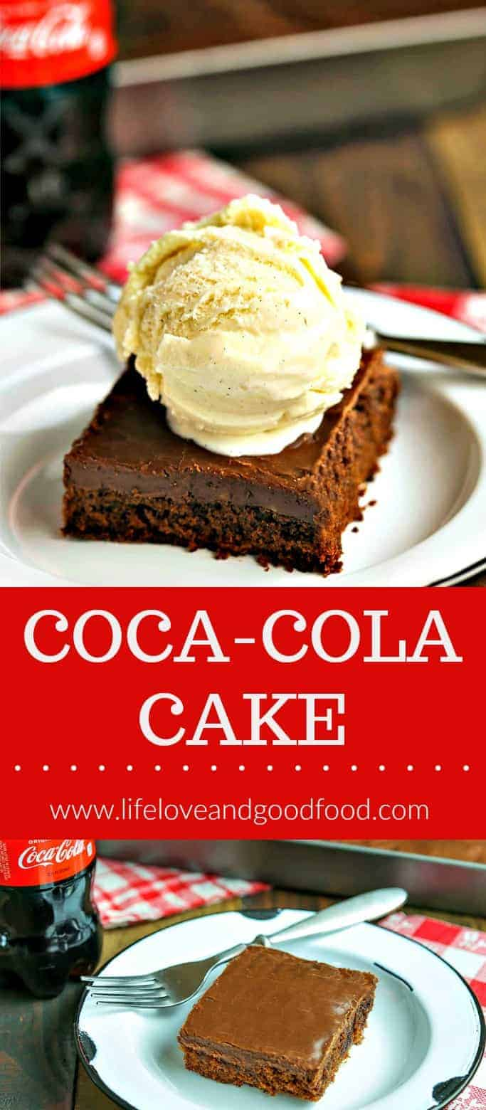 Classic Coca-Cola Chocolate Cake — this no-fuss milk chocolate cake is ultra rich, extremely moist, and even more delicious the second day after it's baked! #sheetpancake #cake #chocolatecake #dessert #cococolacake #chocolatedessert #chocolate