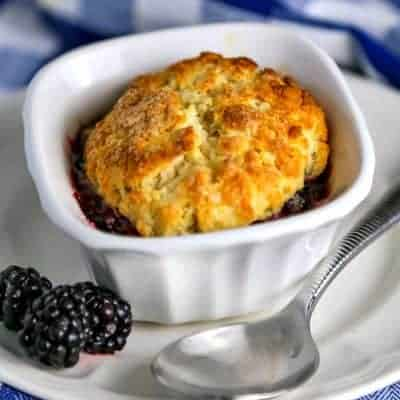Mini Blackberry Cobblers