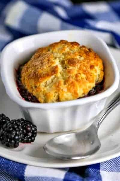 Mini Blackberry Cobblers | Life, Love, and Good Food