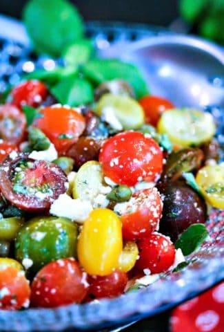 Greek Heirloom Tomato Salad | Life, Love, and Good Food