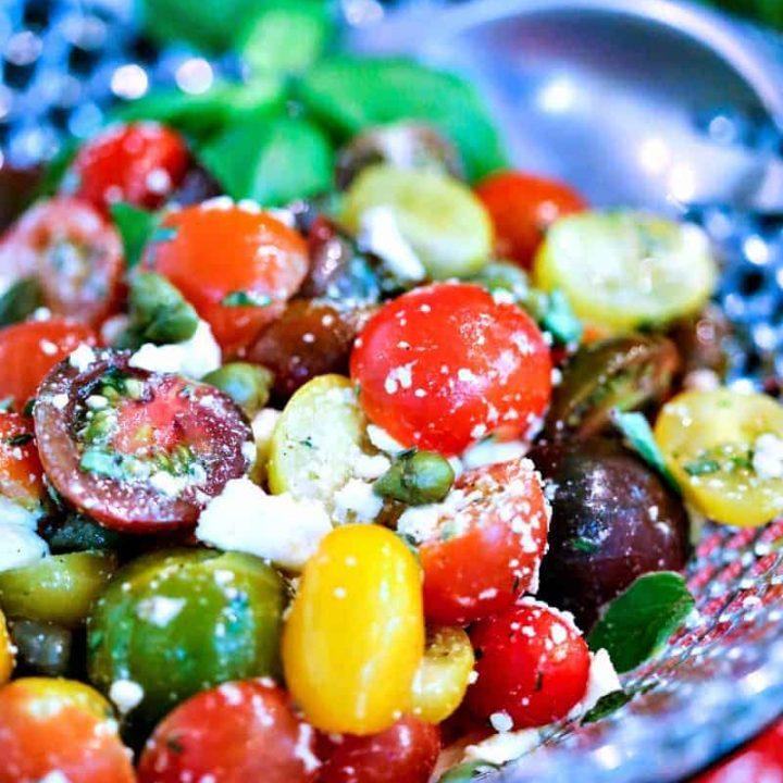 Greek Heirloom Tomato Salad   Life, Love, and Good Food