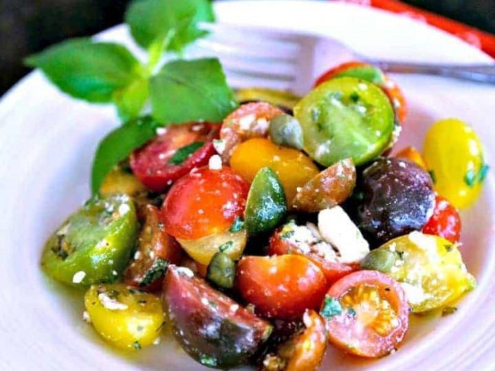 Greek Heirloom Tomato Salad
