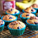 Banana Chocolate Chunk Cookie Butter Muffins | Life, Love, and Good Food
