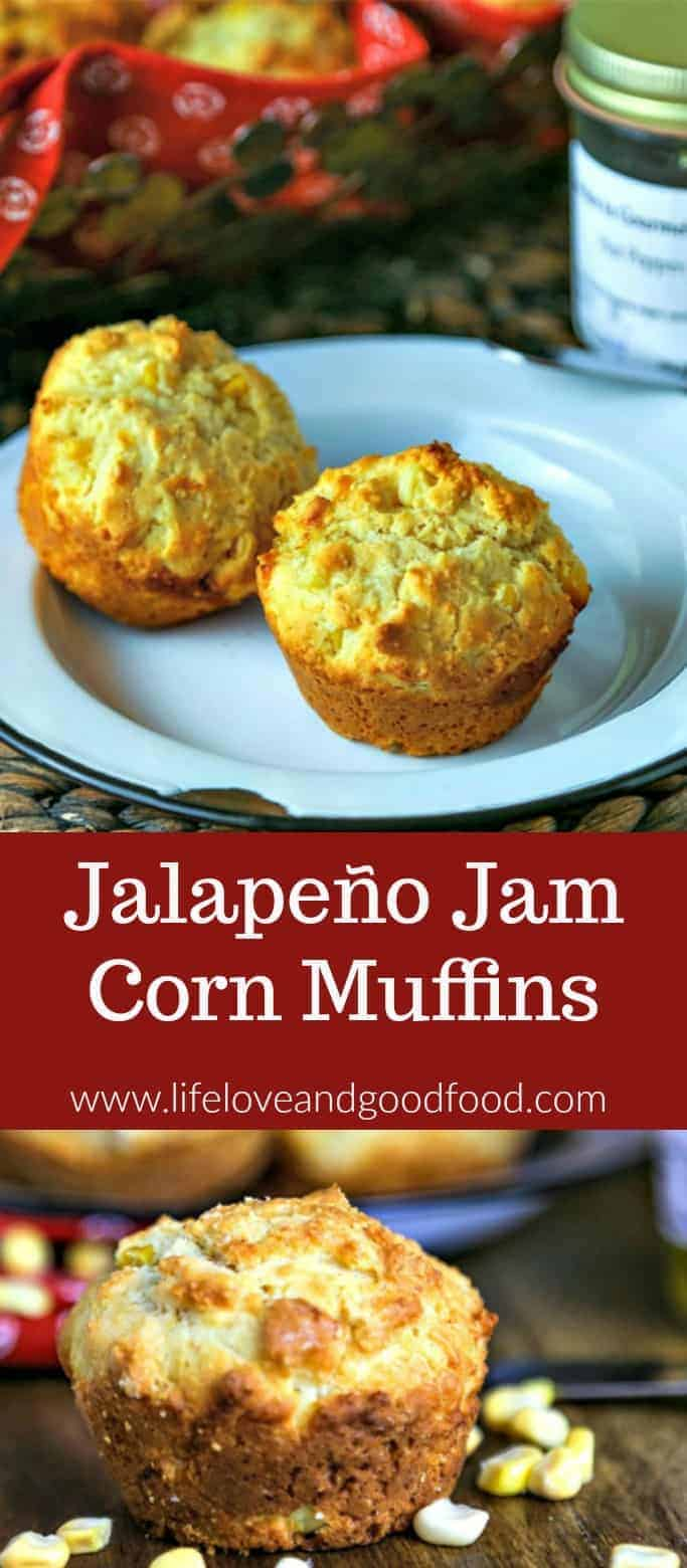 A sticky-sweet—and slightly spicy—surprise in the middle of these Jalapeño Jam Corn Muffin will awaken your taste buds. Just one taste and you'll know this is not just any ordinary cornbread muffin! #muffins #cornbread #muffinweek2018