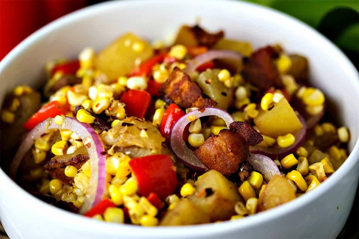 Warm Corn Chowder Salad | Life, Love, and Good Food