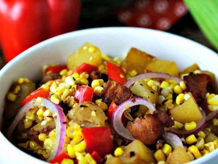 Warm Corn Chowder Salad