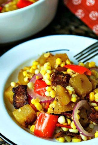 Warm Corn Chowder Salad   Life, Love, and Good Food