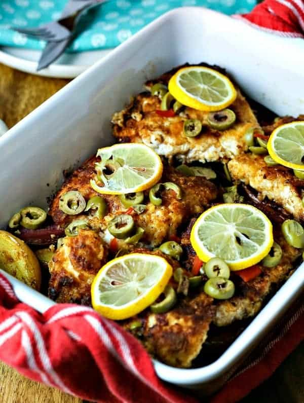 Chicken Cutlets with Olives and Fingerling Potatoes | Life, Love, and Good Food