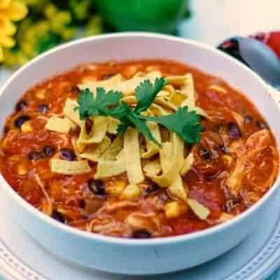 Easy-Cheesy Chicken Enchilada Soup