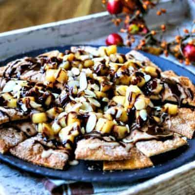 Chocolate Apple Pie Nachos #choctoberfest