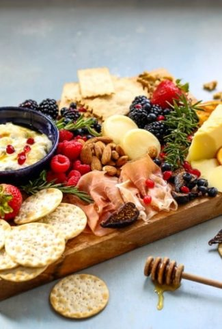 Holiday Cheese Board with Sage Honey Ricotta | Life, Love, and Good Food