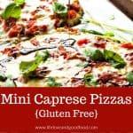 Mini Caprese Pizzas   Life, Love, and Good Food
