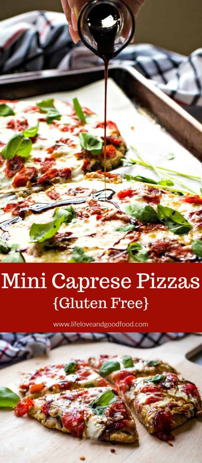 Enjoy the quality difference of @RedGoldTomatoes on a cheesy Mini Caprese Pizza! #pizza #tomatoes #sponsored