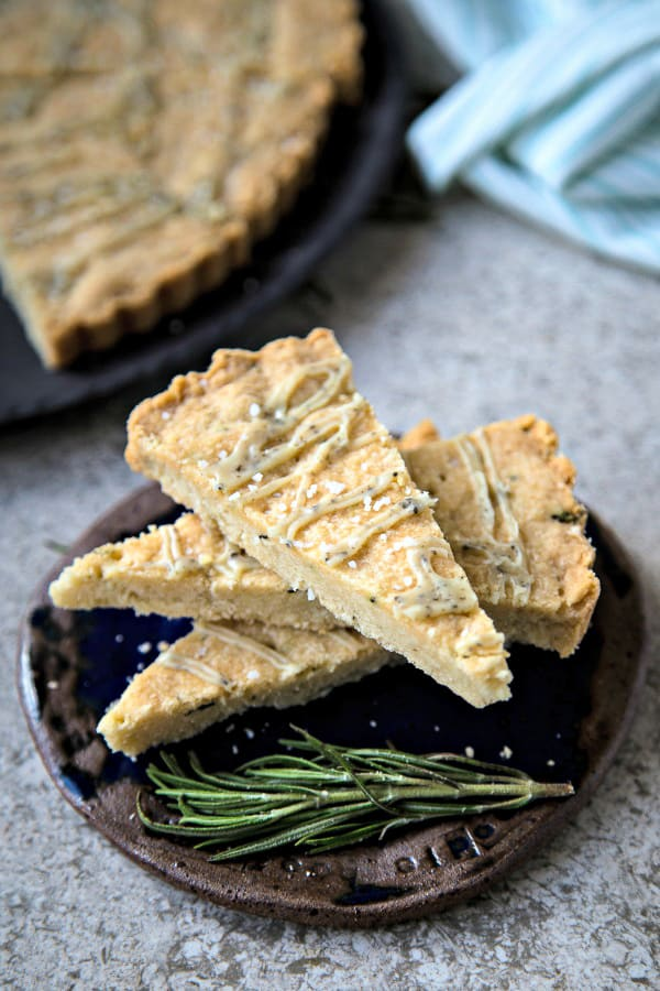 A wedge of shortbread