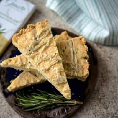 Rosemary and Sea Salt White Chocolate Shortbread #choctoberfest