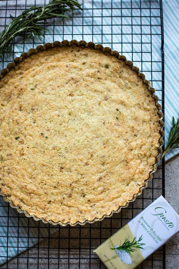 shortbread in a tart pan