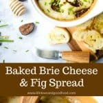 Baked Brie Cheese and Fig Spread | Life, Love, and Good Food