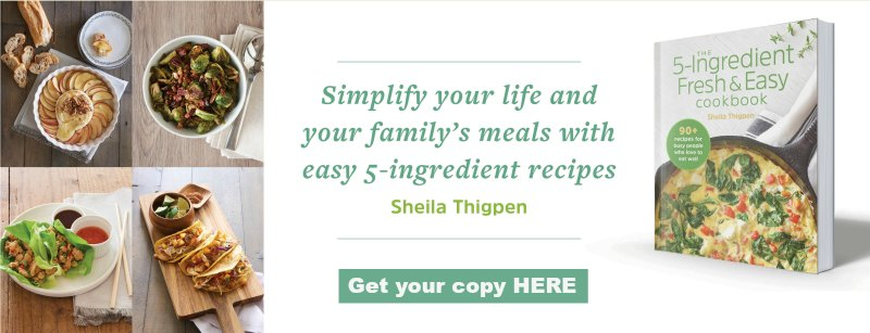 display ad for 5-ingredient cookbook