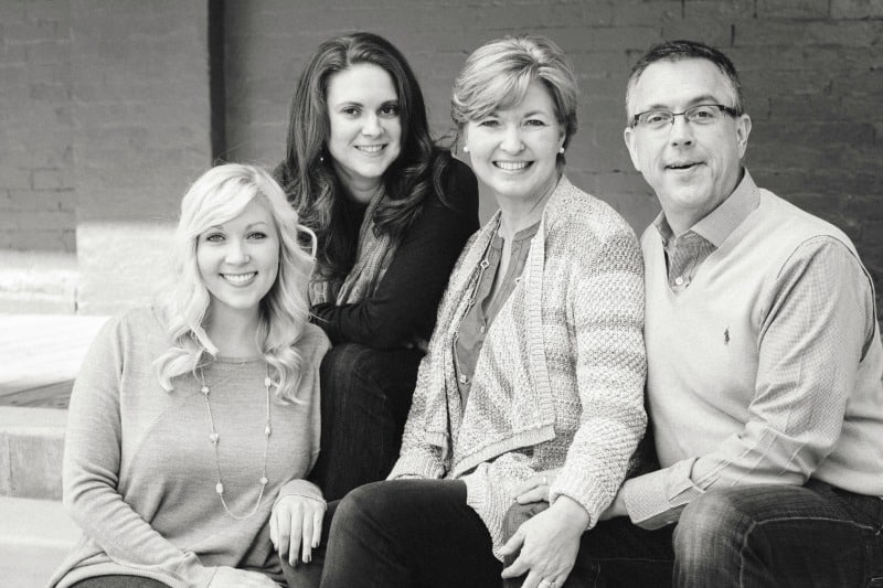 Sheila Thigpen, blogger, with her husband and two daughters
