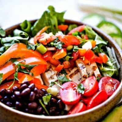 Tex-Mex Chicken Salad with Pico de Gallo
