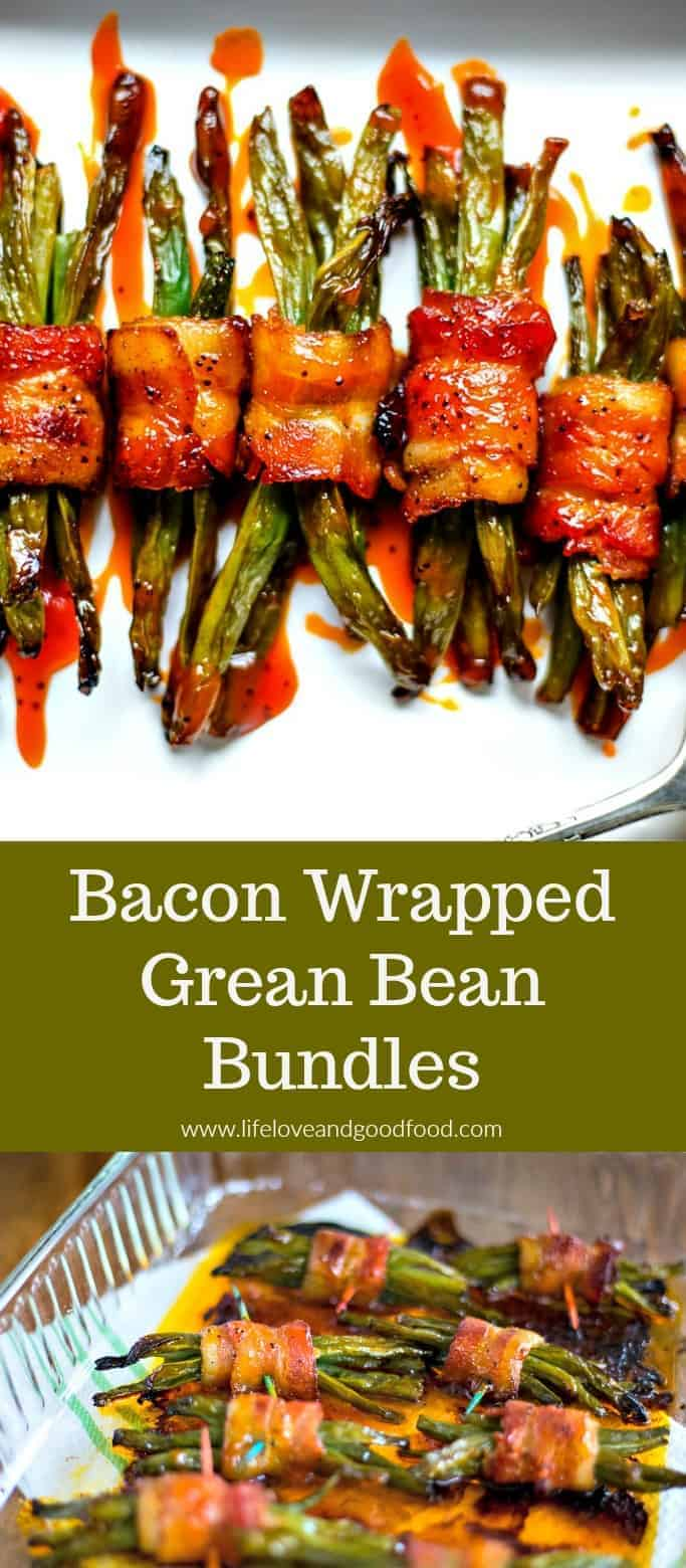 Bacon Wrapped Green Bean Bundles, an elegant side dish for special dinners, are made with just three ingredients! These take a little prep time, but you won't believe how easy they are to make! #greenbeans #baconwrappedgreenbeans #vegetable #sidedish
