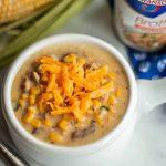 Cheesy Chicken Corn Chowder made with Swanson Chicken Broth
